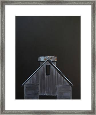 Corn Crib Framed Print by Jeffrey Bess