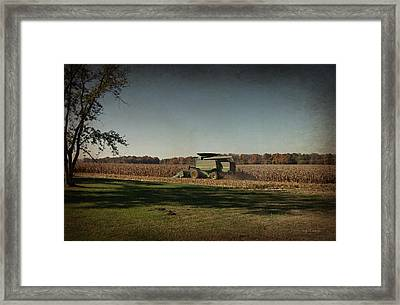 Corn Harvest 2015 Framed Print by Cynthia Lassiter