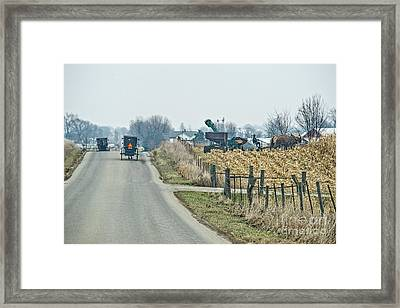 Corn Pickers Framed Print by David Arment