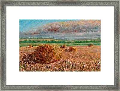 Corn Rolls Framed Print by Mona Davis