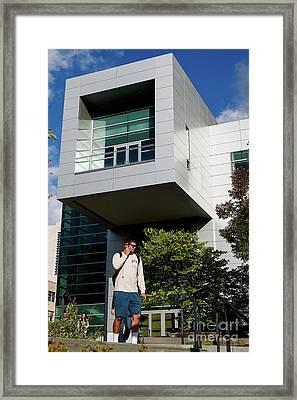 Cornell University Duffield Hall Nanoscale Science And Technology Facilitiy Framed Print by Jason O Watson