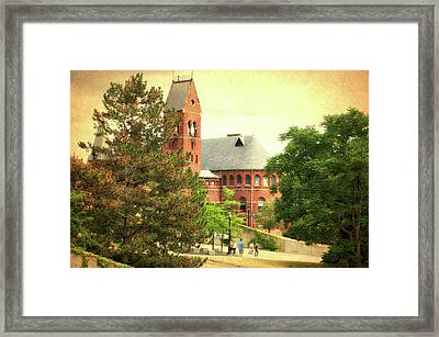 Cornell University Ithaca New York Pa 04 Textured Framed Print by Thomas Woolworth