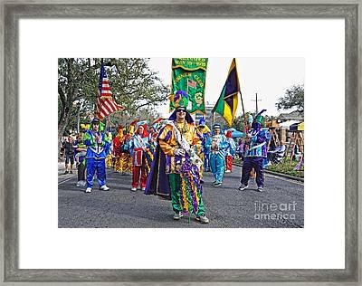 Corner Club 3 -mardi Gras New Orleans Framed Print by Kathleen K Parker