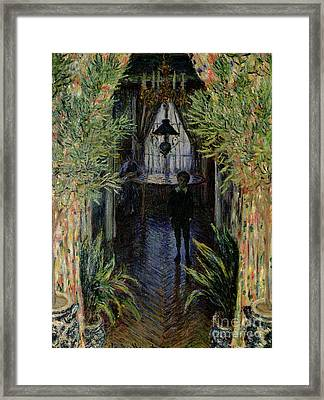 Corner Of A Flat At Argenteuil Framed Print by Claude Monet
