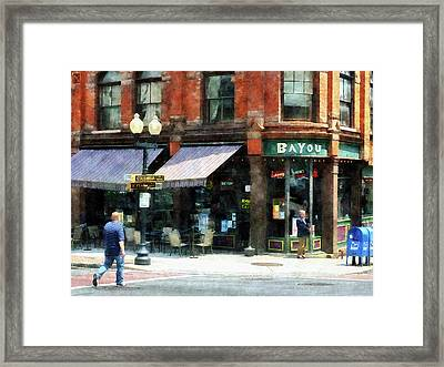 Corner Of Columbia And Pearl Albany Ny Framed Print by Susan Savad