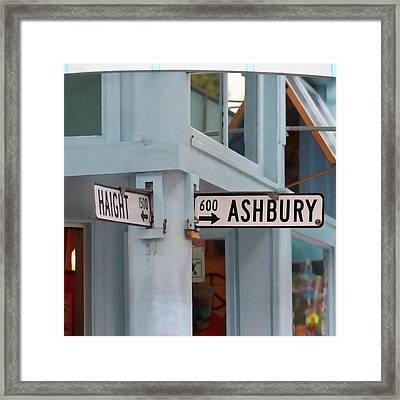 Corner Of Haight And Ashbury Framed Print by Art Block Collections