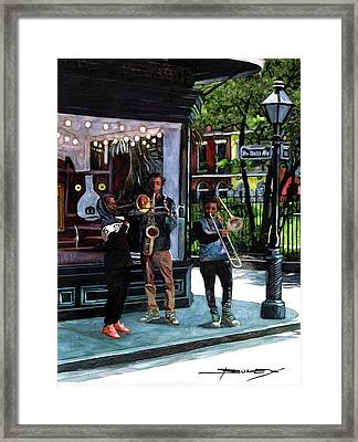 Corner Of Royal Trio Framed Print by John Boles