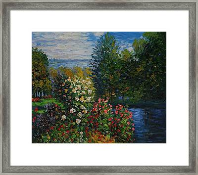 Corner Of The Garden At Montgeron Framed Print by Claude Monet