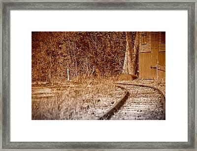 Corner Rails Framed Print by Ross Powell