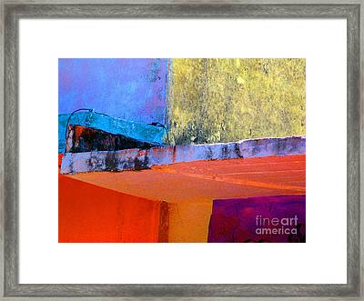 Corner Scroll 2 By Michael Fitzpatrick Framed Print by Mexicolors Art Photography