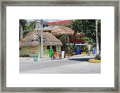 Corner Shops Framed Print by Paul Williams