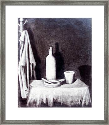 Corner Table Framed Print by Sonsoles Shack