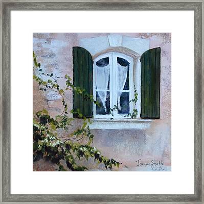 Corner Window Framed Print by Jeanne Rosier Smith