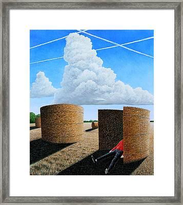 Cornfield Dreamer Framed Print by Adrian Jones