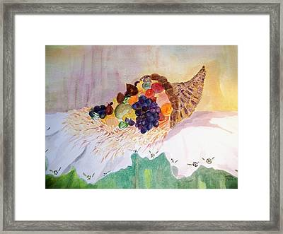 Cornucopia Framed Print by Jacqueline Coote