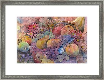Cornucopia Of Fruit Framed Print by Arline Wagner