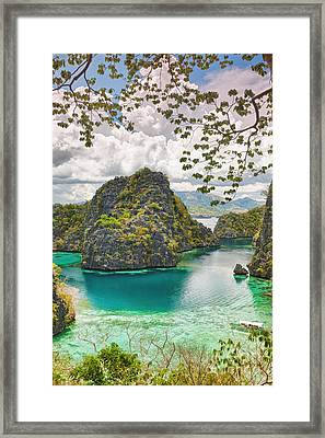 Coron Lagoon Framed Print by MotHaiBaPhoto Prints
