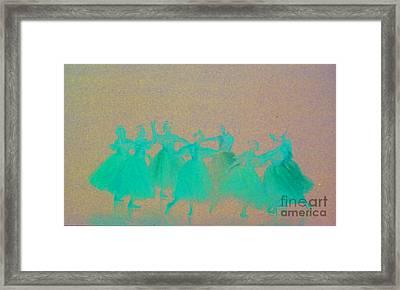 Corps De Ballet II Framed Print by Mia Alexander