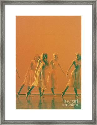 Corps De Ballet Framed Print by Mia Alexander
