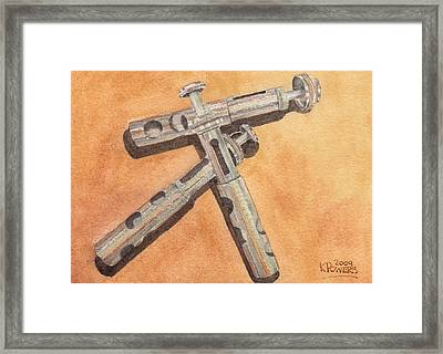 Corroded Trumpet Pistons Framed Print by Ken Powers