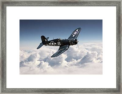Corsair F4u - Royal Navy Framed Print by Pat Speirs