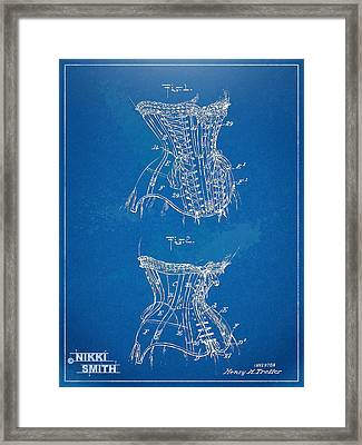 Corset Patent Series 1908 Framed Print by Nikki Marie Smith