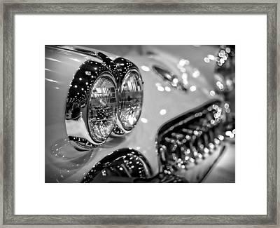 Corvette Bokeh Framed Print by Gordon Dean II