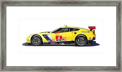 Corvette C7.r Lm Illustration Framed Print by Alain Jamar