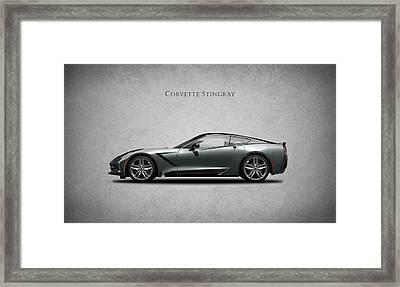 Corvette Stingray Coupe Framed Print by Mark Rogan