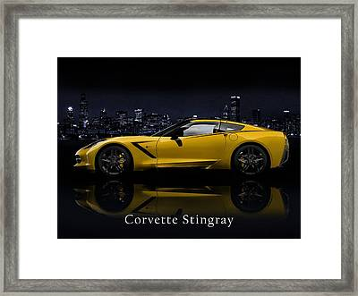 Corvette Stingray Framed Print by Mark Rogan