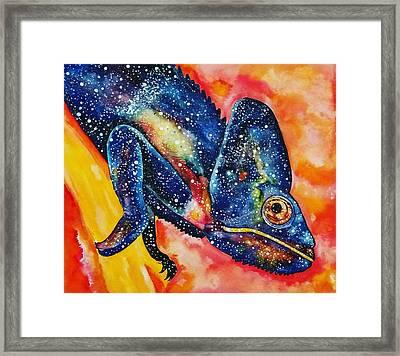 Cosmic Chameleon Framed Print by Brooklynn Ash