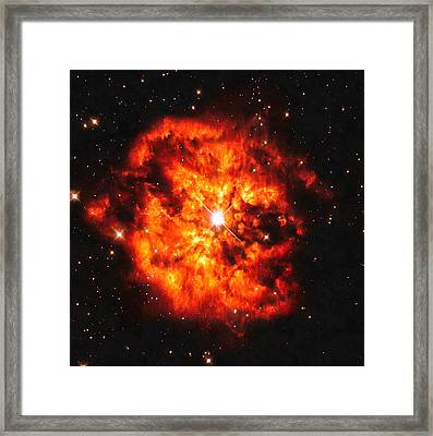 Cosmic Couple Star And Nebula Framed Print by Matthias Hauser