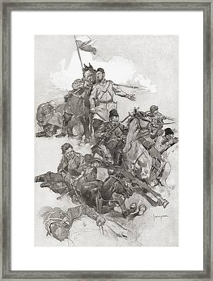 Cossacks Fighting In Hollow Square Framed Print by Vintage Design Pics