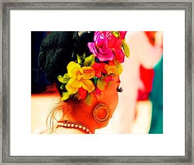 Costa Maya Folkloric Show Framed Print by David Coleman