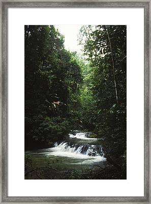 Costa Rica Waterfall In The Carocavado Framed Print by James Forte