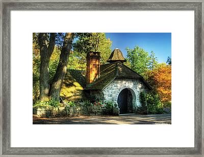 Cottage - The Little Cottage Framed Print by Mike Savad