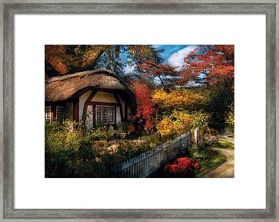 Cottage - Grannies Cottage Framed Print by Mike Savad