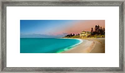 Cottesloe Beach Sunset Framed Print by Az Jackson
