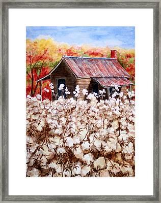 Cotton Barn Framed Print by Barbel Amos