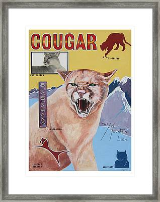Cougar -visualisation Framed Print by John Keaton