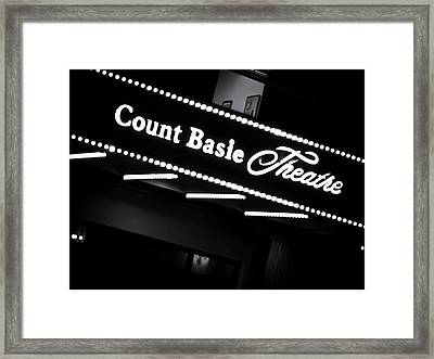 Count Basie Theatre In Lights Framed Print by Colleen Kammerer