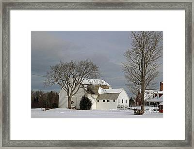 Country Barn Homestead Framed Print by Cheryl Aguiar