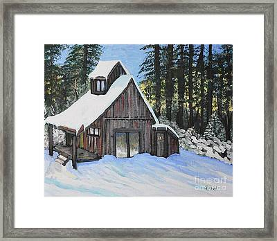 Country Cabin Framed Print by Reb Frost