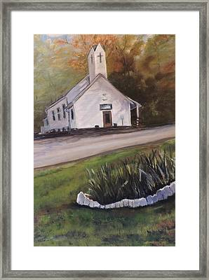Country Church Framed Print by Betty Pimm
