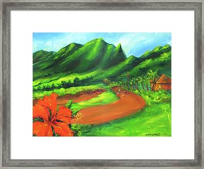 Country Comfort Framed Print by Hanako Hawaii