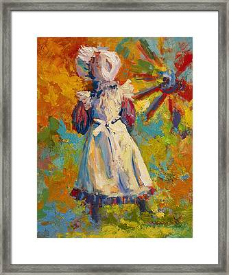 Country Girl Framed Print by Marion Rose
