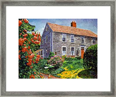 Country House Cape Cod Framed Print by David Lloyd Glover