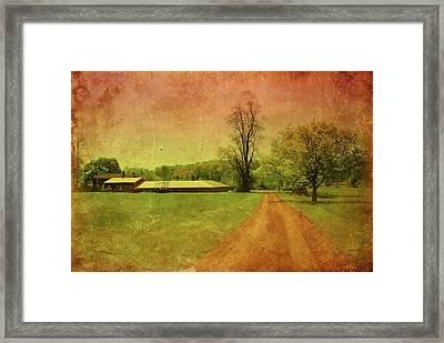 Country Living - Bayonet Farm Framed Print by Angie Tirado