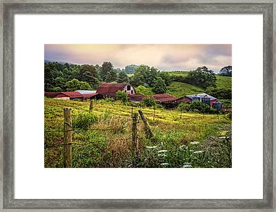Country Morning Framed Print by Debra and Dave Vanderlaan
