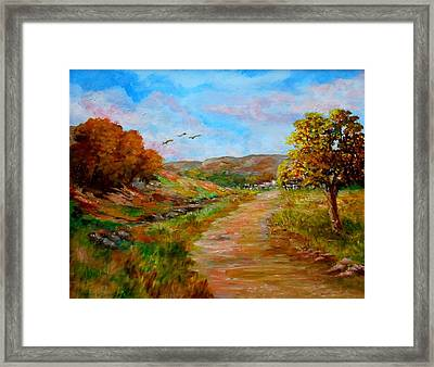 Country Road 2 Framed Print by Constantinos Charalampopoulos
